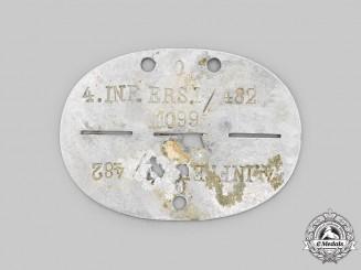 Germany, Heer. An Infanterie-Ersatz-Bataillon 1 Identification Tag