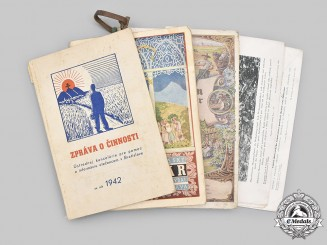 Slovakia, Republic; Germany, Third Reich. A Lot of Three Publications and Twelve Photographs