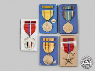 United States. A Lot of Five Medals, Boxed