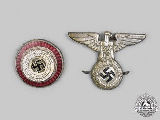 Germany, NSDAP. A Pair of Political Cap Insignia