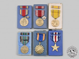 United States. A Lot of Six Medals, Boxed