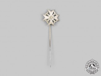 Germany, Wehrmacht. A Rare Silver Grade Spanish Cross Stick Pin Miniature