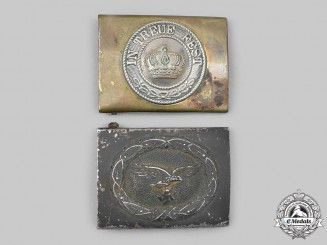 Germany. A Pair of Enlisted Personnel Belt Buckles