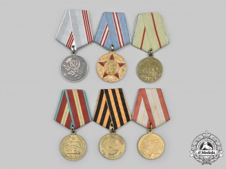 Russia, Soviet Union. A Lot of Six Medals