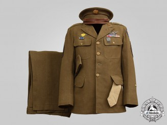 United States. An Army Air Forces Flying Officer's Uniform, to Technical Sergeant Dana Wayne Winsett, 306th Bombardment Group, c.1945