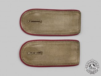 Germany, Heer. A Set of Tropical Smoke/Chemical Troops Enlisted Personnel Shoulder Straps