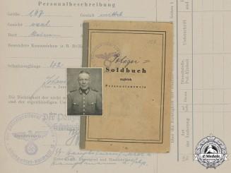 Germany, Schutzpolizei. A Soldbuch to Unterwachtmeister Johann Allers