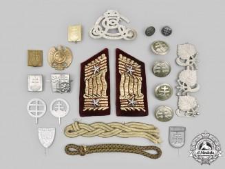 Slovakia, Republic. A Second War Era Lot of Twenty-One Uniform Insignia