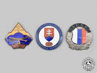 Slovakia, Republic. A Lot of Three Badges