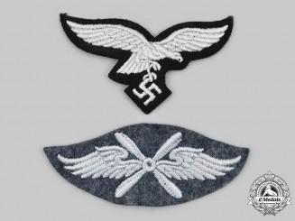 Germany, Luftwaffe. A Pair of Uniform Insignia