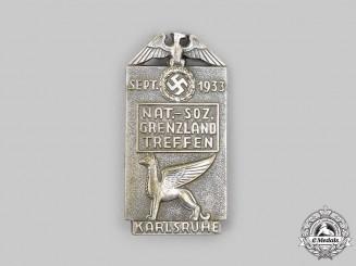 Germany, NSDAP. A 1933 Karlsruhe NSDAP Meeting Badge, by R. Schenkel