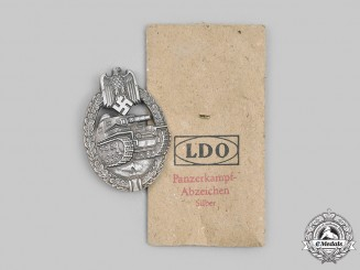 Germany, Wehrmacht. A Panzer Assault Badge, Silver Grade, by Friedrich Orth