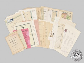 Slovakia, Republic; Germany, Third Reich; Czechoslovakia, Socialist Republic. A Lot of Fifty Assorted Papers and Four Photographs