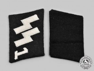 "Germany, SS. A Rare Set of SS-Panzergrenadier-Regiment ""Deutschland"" Collar Tabs"