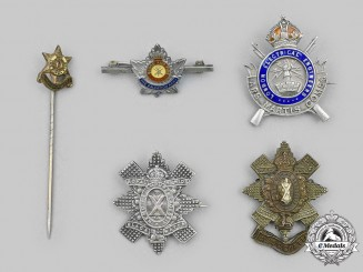 Canada, United Kingdom. A Lot of Five Badges