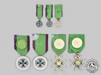 United States. A Lot of Seven American Association of The Order of Saint Lazarus Awards