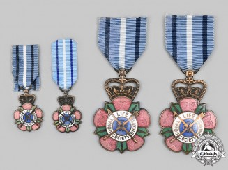 Canada, Commonwealth. Four Royal Life Saving Society Alberta and Territories Branch Merit Medals