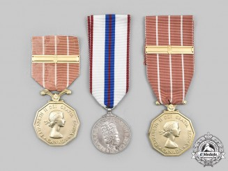 Canada, Commonwealth. A Veterans' Lot of Three Medals