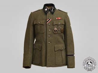 Germany, SS. A Decorated SS-Totenkopfverbände Untersturmführer's Service Tunic