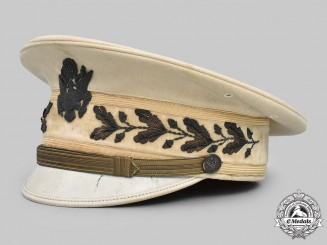 United States. A Formal Summer Army Officer's Service Visor Cap, c.1918