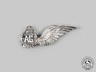Canada, Commonwealth. An Air Gunner (AG) Badge, by R.J Wyancko