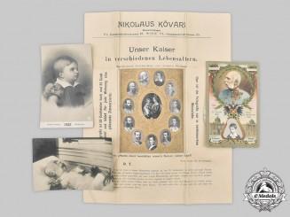 Austria, Empire. A Lot of Four Emperor Franz Joseph I Items