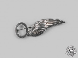 Canada, Commonwealth. A Hand Engraved Observer (O) Wing in Silver