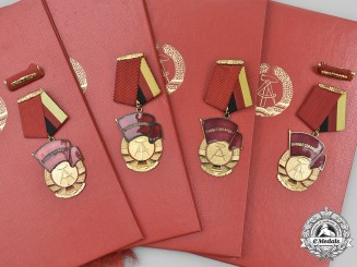 Germany, Democratic Republic. A Lot of Late-Period Labour Awards and Documents