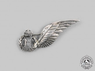 Canada, Commonwealth. A Hand Engraved Navigator (N) Wing in Silver