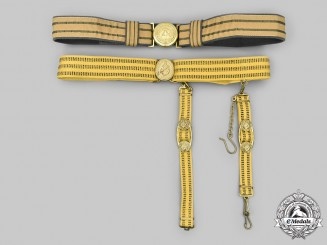 Germany, DDR. An NVA Officer's Belt, with a Soviet Dagger Hanger