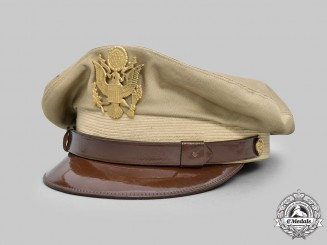 United States. An Army Officer's Tropical/Summer Service Visor Cap, c.1945