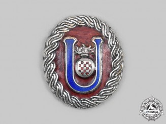 Croatia, Independent State. A Ustasha Officer's Belt Buckle, by B. Knaus