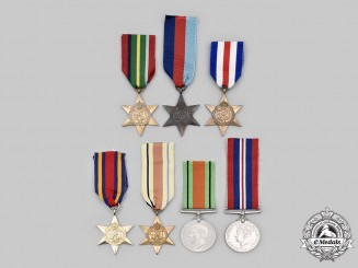 United Kingdom. A Lot of Seven Second War Awards