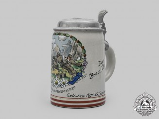 Germany, Heer. A Gebirgsjäger-Regiment 99 Machine Gun Company Commemorative Stein