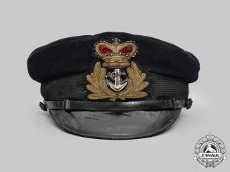 United Kingdom. A late Victorian Royal Navy Officer's Visor Cap