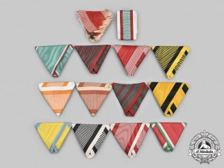 Austro-Hungarian Empire. A Lot of Fourteen Period Ribbons