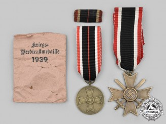 Germany, Wehrmacht. A Pair of War Merit Decorations