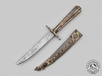 Turkey, Ottoman Empire. A Rare and Ornate Presentation Dagger with Damascus Blade, c.1860