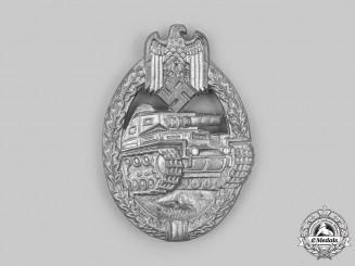 Germany, Wehrmacht. A Panzer Assault Badge, Silver Grade, by E. Ferdinand Wiedmann