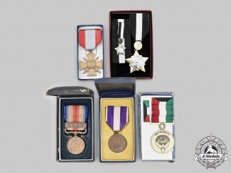 France, Japan, Kuwait, Sudan. Lot of Five Awards