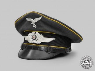 Germany, Luftwaffe. A Flight Personnel EM/NCO's Visor Cap, LAGO-Marked