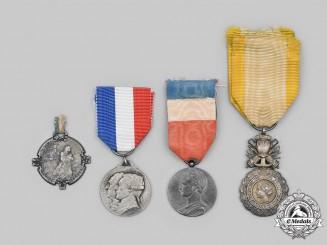 France, Third Republic. Lot of Four First War Era Medals