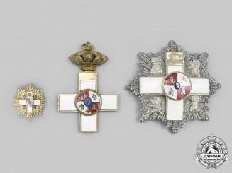 Spain, Kingdom. Three Order of Military Merit with White Distinction Awards