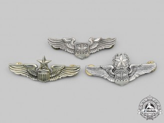 United States. Lot of Three United States Air Force (USAF) Badges