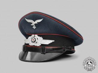 Germany, Luftwaffe. A Flak/Artillery EM/NCO's Visor Cap