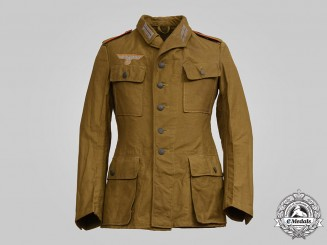 Germany, Heer. A Flak/Artillery Enlisted Personnel Tropical Field Blouse