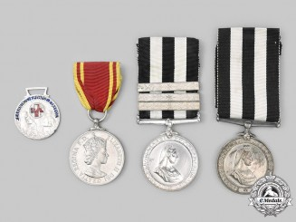 Greece, United Kingdom. Lot of Four Medals