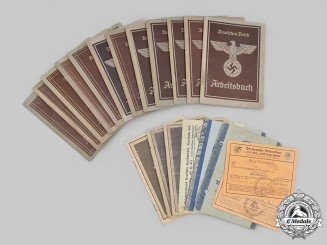 Germany, Third Reich. A Lot of Labour Organization Identity Documents