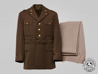 United States. An Army Air Forces Flying Officer's Uniform, c.1945