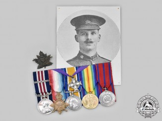 Canada, CEF. A Military Medal & Bar to Sgt. John MacRae, KIA, Battle of Courcelette, September 1916